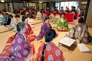 初春をことほぐ歌が披講された歌会始(18日午後2時47分、京都市上京区・冷泉家)