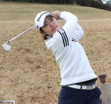 プロゴルファーとなり、飛躍を目指す宮崎日大高出の中西絵里奈