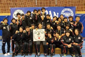 スウェーデンで強さを見せた日本チーム=チーム提供