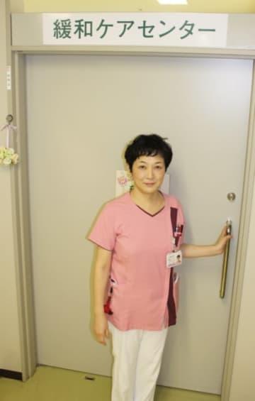 がん看護外来がある緩和ケアセンター。専門的な知識を持つ看護師が患者や家族の相談に乗る=大分市の県立病院