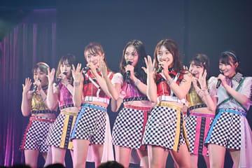 単独コンサートを開催したNMB48=19日午前、東京・水道橋の東京ドームシティホール