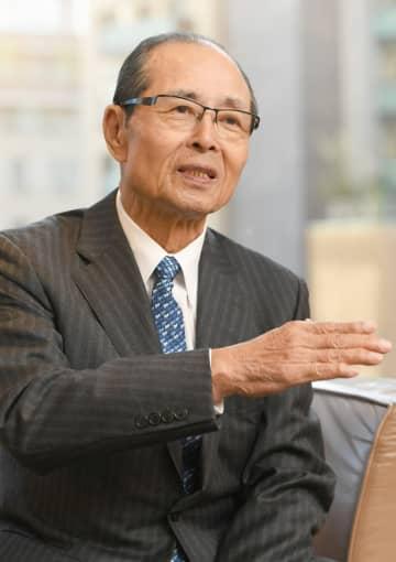 「日本の底力を世界に」と語る王さん=東京都内のホテル