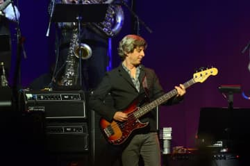 Mike Gordon performs during the Love For Levon Benefit Concert at the Izod Center on Oct. 3, 2012 in East Rutherford, N.J. - Brian Killian/Getty Images North America/TNS