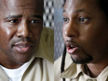 Kevin Baker and Sean Washington, pictured in these 2015 file photos, were convicted for a 1995 double murder they say they did not commit.