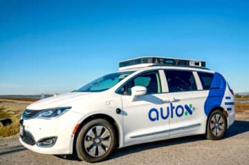 A self-driving Chrysler Pacifica minivan jointly developed by AutoX, which it boasts a software platform with full redundancy in safety-critical systems such as braking and steering. (Image credit: AutoX)