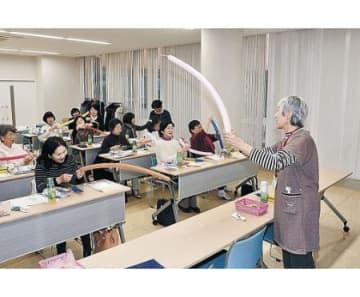 風船アートの基本学ぶ 朝日で講座