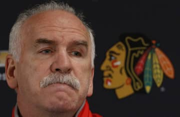 Blackhawks head coach Joel Quenneville listens to questions during their end-of-season media availability at the United Center on April 22, 2017. - Jim Young/Chicago Tribune/TNS