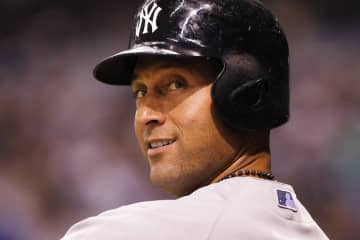 New York Yankees shortstop Derek Jeter before his at bat in the eighth inning against the Tampa Bay Rays at Tropicana Field in St. Petersburg, Fla., on Aug. 15, 2014. - Will Vragovic/Tampa Bay Times/TNS