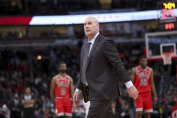 Chicago Bulls coach Jim Boylen walks on the court during the first half against the Wizards on Jan. 15, 2020, at the United Center. On Monday, Boylen's Bulls fell to the Milwaukee Bucks 111-98. - Armando L. Sanchez/Chicago Tribune/TNS