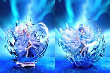 「リゼロ」エミリア&レムの幻想的なドレス姿フィギュアが予約開始 実物展示イベントも