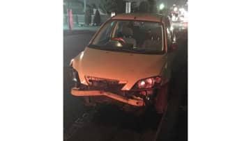 飲酒運転で約700mも歩道を暴走し中学生をひき逃げ…事故直後の写真入手
