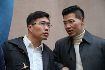 Au Nok-hin and Gary Fan. File Photo: inmediahk.net.