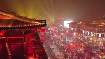 春節迫る古都西安 多彩なイベントで市民を魅了