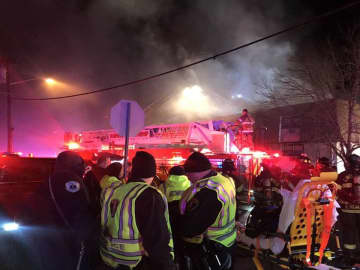 Dozens of apartments were damaged in an overnight fire at Buttonwood Village in Blackwood on Tuesday, Jan. 21, 2020. (Gloucester Township police/)