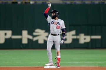 【MLB】エンゼルス超有望株アデル、最速166キロ右腕と2ショット「将来のスーパースター」 画像