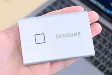 サムスン、指紋認証搭載の外付けSSD「T7 Touch」。最大転送速度1,050MB/sに対応 画像