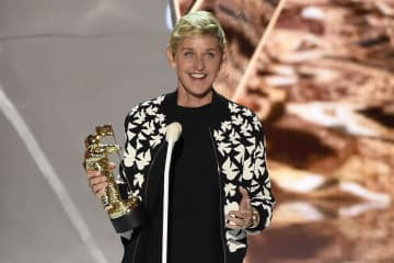 Ellen DeGeneres presents the MTV Michael Jackson Video Vanguard Award at the MTV Video Music Awards at The Forum on Sunday, Aug. 27, 2017, in Inglewood, Calif. (Chris Pizzello/)
