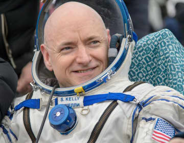 Scott Kelly spent nearly a year in space, setting an American record. (Bill Ingalls | NASA/)