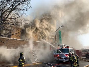 No one was hurt in a four-alarm fire that left a building on Washing Street in Bloomfield uninhabitable on Tueday, Jan. 21, 2020. (Bloomfield Fire Department/)