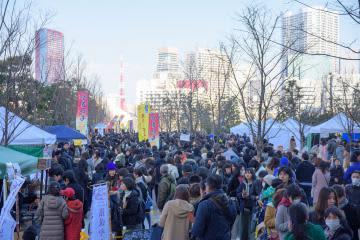 昨年の「品川やきいもテラス」の様子=東京都港区