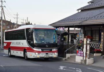 4月から運行本数が半減する品川行きの高速バス=大多喜町