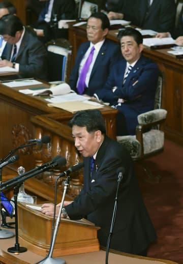 「桜を見る会」、IR汚職を追及 枝野氏は首相辞任要求、代表質問 画像