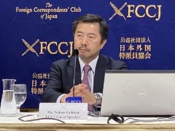 日本外国特派員協会で会見する郷原信郎弁護士(2020年1月22日、弁護士ドットコムニュース撮影)