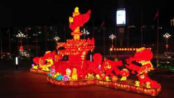 鼎盛皇室ランタン祭り開幕 承徳市
