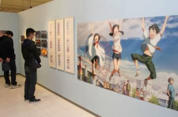 映画「天気の子」誕生の裏側迫る 岡山で企画展、原画など400点