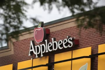 Applebee's Neighborhood Drink of the Month is made with tequila, strawberry and margarita mix, served on the rocks and with a Twizzlers straw. (Getty Images) (Scott Olson/)