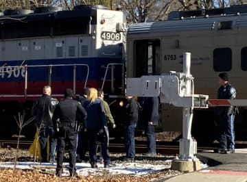 Authorities investigate on Wednesday, Jan. 22, 2020 after a woman was struck and killed by a train in Glen Rock. (Photo: Boyd A. Loving) (Boyd A. Loving/)
