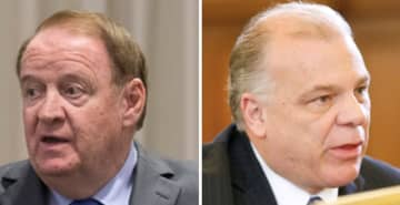 State Sen. Richard Codey (left) and state Senate President Stephen Sweeney (right). (File photos/)