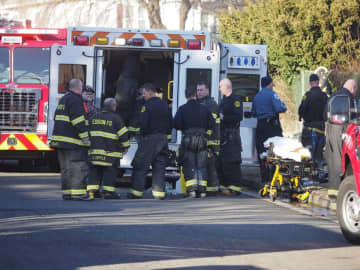 Firefighters at the scene of a fire on Jill Court in Edison on Wednesday, Jan. 22, 2020.  (Patti Sapone | NJ Advance Media/)