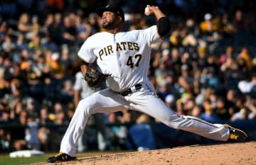 Francisco Liriano #47 of the Pittsburgh Pirates delivers a pitch in the seventh inning during the game against the San Diego Padres at PNC Park on June 22, 2019 in Pittsburgh, Pennsylvania. - Justin Berl/Getty Images North America/TNS