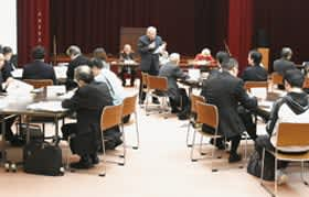 各部会の活動内容などが報告された会合