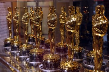 "Oscar statuettes that will be presented to winners at an Academy Award presentation are displayed at ""Meet the Oscars"" in the Times Square Studios on February 12, 2007. - Richard B. Levine/Sipa USA/TNS"