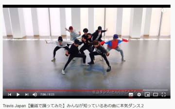 「どんぐりころころ」を踊るTravis Japan(ジャニーズJr.公式チャンネルより)