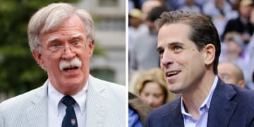 Bringing Hunter Biden in to testify can't possibly make him or his dad look any worse than Republicans have tried to make them look already. And, by the way, Bolton's the guy of the left. (File photos/)
