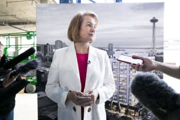 Seattle Mayor Jenny Durkan, here in a June 2019 file image, said that one of the three suspects in the downtown shooting that killed one and wounded seven on January 22, 2020, has been taken into custody. - Erika Schultz/Seattle Times/TNS