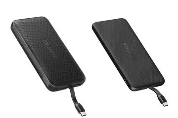 RAVPower、USB Type-Cケーブル内蔵のモバイルバッテリー2モデル