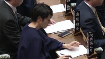 河井案里議員 無言貫く 1億5000万円入金問題で開会が遅れる