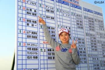 昨年のプロテストで2位合格の西村優菜がJOINT ONEとマネジメント契約した(撮影:福田文平)