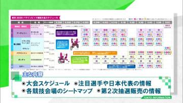 競技のコラム・スケジュール・マップなど情報が充実!東京2020パラリンピック観戦パンフレット