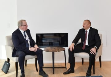 Azerbaijani president meets with Chief Executive Officer of Equinor in Davos
