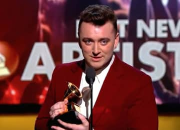 Sam Smith Wins At 2015 Grammys