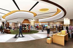 伊丹空港の出発エリアで開業するウォークスルー型商業エリアのイメージ(関西エアポート提供)