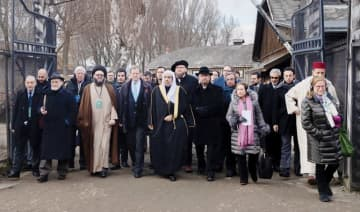The mission, led by the MWL and the American Jewish Committee, is the most senior Islamic leadership delegation to ever visit any Nazi death camp. (Supplied)