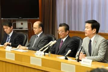 新型コロナウイルスを未然に防止するため、対策本部会議が開かれた=23日、千葉県庁