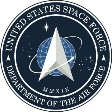 Image courtesy US Air Force shows the new logo for the United States Space Force, founded on Dec 20, 2019, which was revealed by US President Donald Trump on Friday.