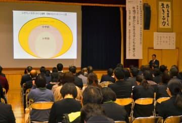 地域で豊かに生きる子どもを育てるための学びを考えた愛媛教育研究大会=24日午前、松山市持田町1丁目